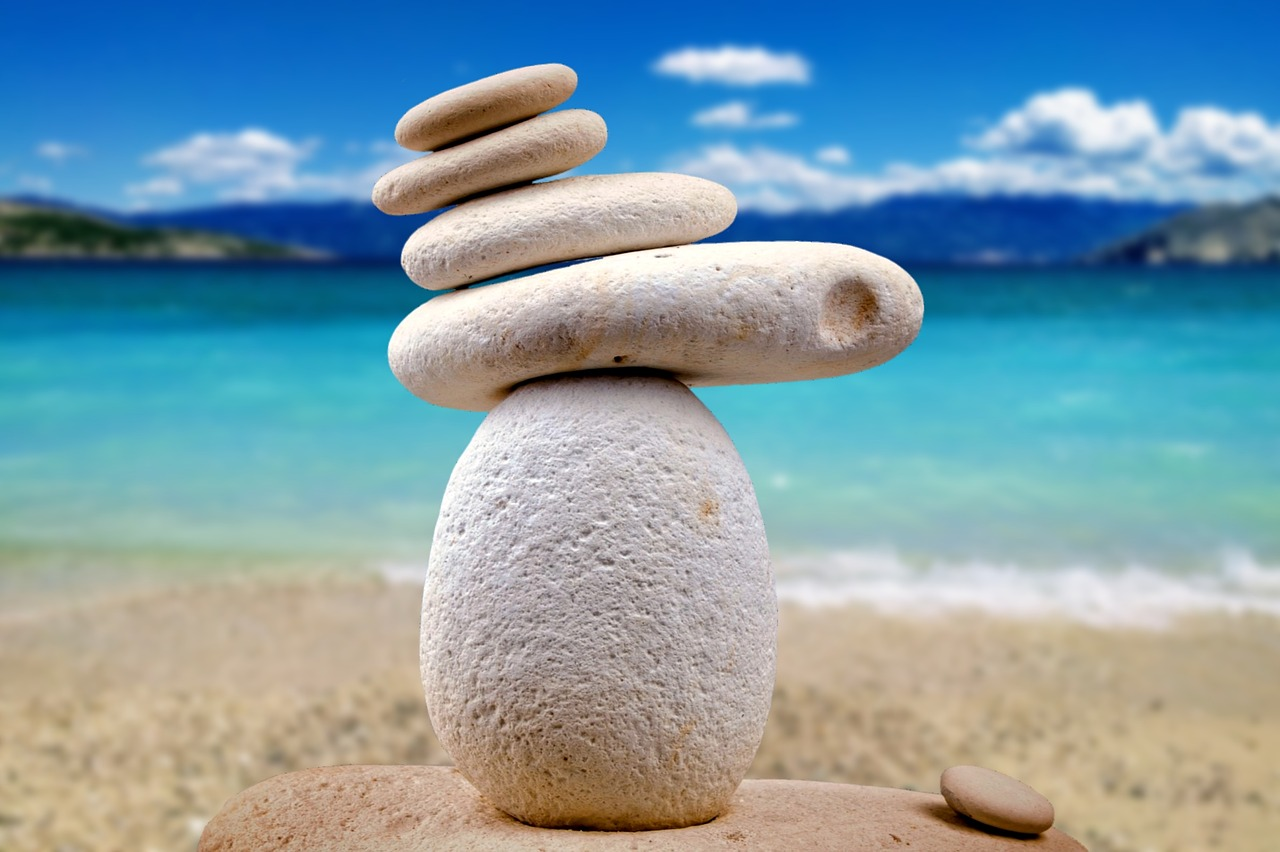 stones, zen, white